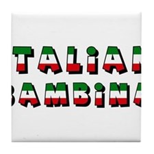 Italian bambina Tile Coaster