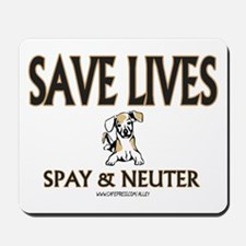 Spay & Neuter (dog) Mousepad