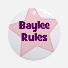 Baylee Rules Ornament (Round)