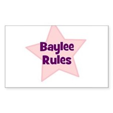 Baylee Rules Rectangle Decal
