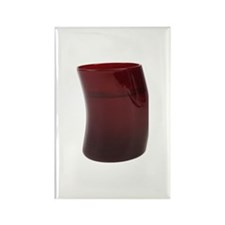 Burgundy tinted glass Rectangle Magnet (10 pack)