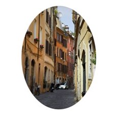 Narrow Lane in Rome, Italy Ornament (Oval)