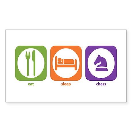 Eat Sleep Chess Rectangle Sticker