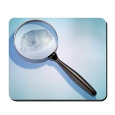 Fingerprint and Magnifying Glass Mousepad