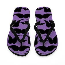 Mustache Fancy Flip Flops