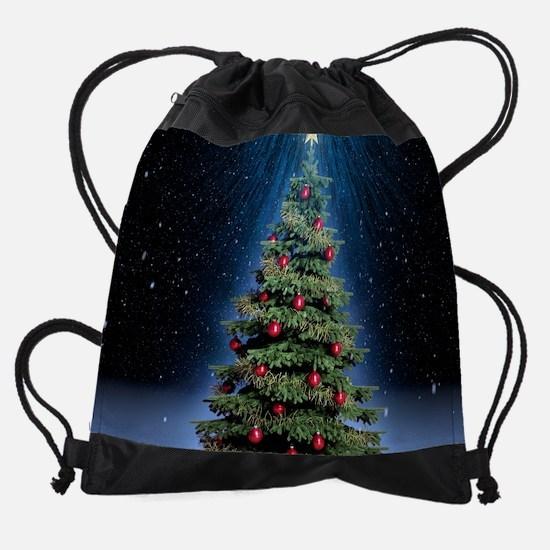 Beautiful Christmas Tree Drawstring Bag