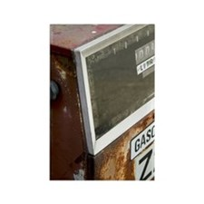 Rusty dilapidated gasoline pump Rectangle Magnet