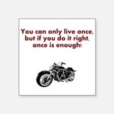 You Only Live Once - Motorbike Sticker