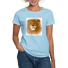 Realistic Lion Women's Pink T-Shirt