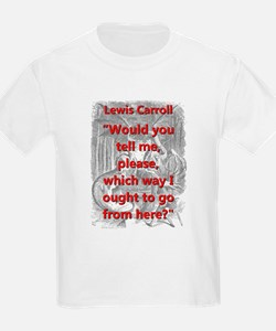 Would You Tell Me Please - L Carroll T-Shirt