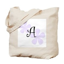 Lilac Flowers Monogram A Tote Bag