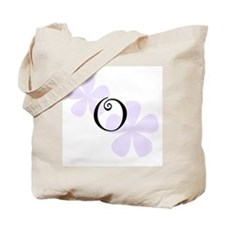 Lilac Flowers Monogram O Tote Bag