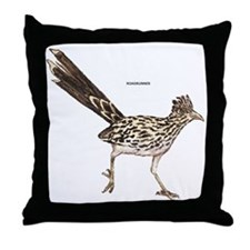 Roadrunner Desert Bird Throw Pillow
