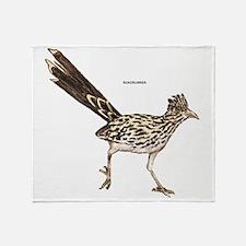 Roadrunner Desert Bird Throw Blanket