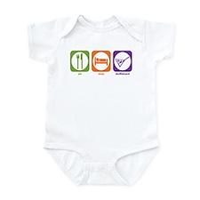 Eat Sleep Shuffleboard Infant Bodysuit