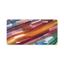Toothbrushes Aluminum License Plate
