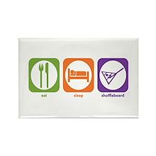 Eat Sleep Shuffleboard Rectangle Magnet