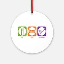 Eat Sleep Shuffleboard Ornament (Round)