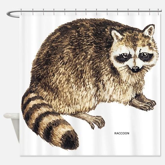 Raccoon Coon Animal Shower Curtain
