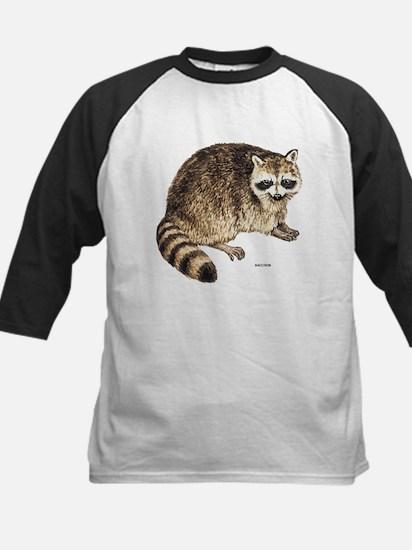 Raccoon Coon Animal Kids Baseball Jersey