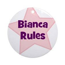 Bianca Rules Ornament (Round)