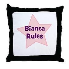 Bianca Rules Throw Pillow