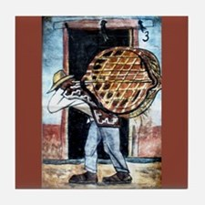 Diego Rivera Man Carrying Basket Art Tile Coaster