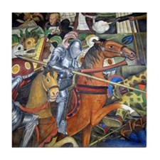 Diego Rivera Art Tile Coaster Conquest of Mexico