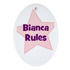 Bianca Rules Oval Ornament