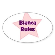 Bianca Rules Oval Decal