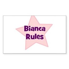 Bianca Rules Rectangle Decal