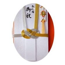 Japanese gift envelope Ornament (Oval)
