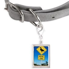 Road sign in Hawaii for Nen Small Portrait Pet Tag