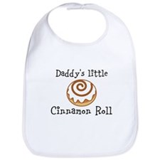 Daddys little Cinnamon Roll Bib