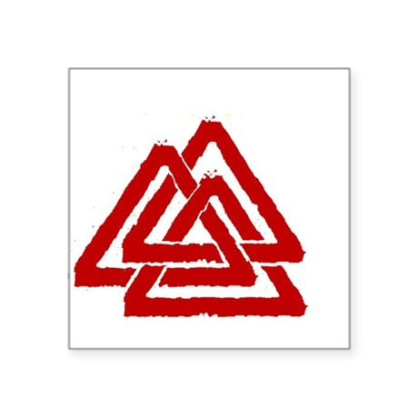 Valknut Rectangle Sticker