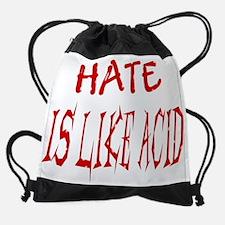 hate like acid_acid_enl.jpg Drawstring Bag