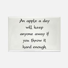 An Apple A Day Will Keep Everyone Away Rectangle M