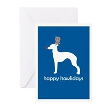 "Italian Greyhound ""Happy Howl Greeting Cards (Pack"