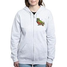Quetzal Bird Zip Hoodie