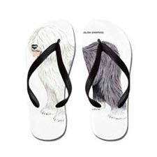 Old English Sheepdog Dog Flip Flops
