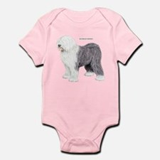 Old English Sheepdog Dog Infant Bodysuit