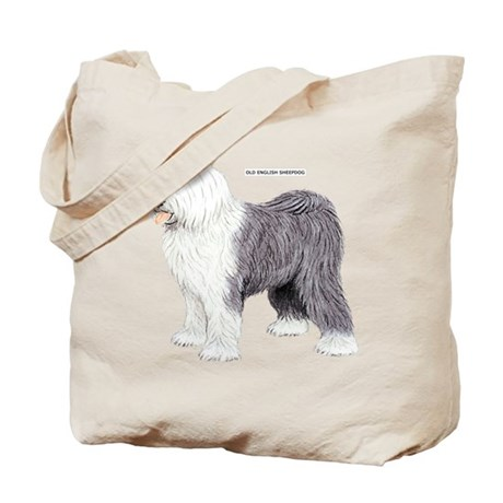 Old English Sheepdog Dog Tote Bag