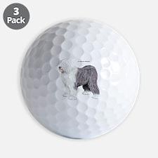 Old English Sheepdog Dog Golf Ball