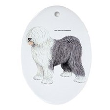 Old English Sheepdog Dog Ornament (Oval)