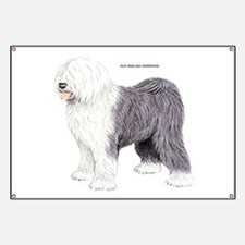 Old English Sheepdog Dog Banner