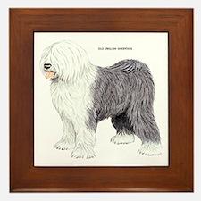 Old English Sheepdog Dog Framed Tile