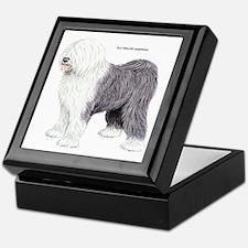 Old English Sheepdog Dog Keepsake Box