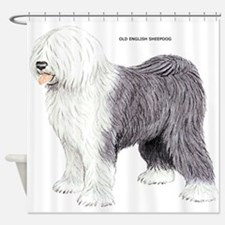 Old English Sheepdog Dog Shower Curtain