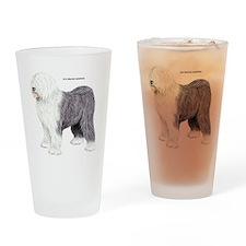 Old English Sheepdog Dog Drinking Glass
