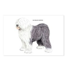 Old English Sheepdog Dog Postcards (Package of 8)